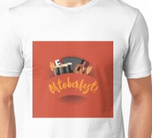 Oktoberfest design with accordion, beer, pretzel and wheat Unisex T-Shirt