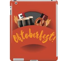 Oktoberfest design with accordion, beer, pretzel and wheat iPad Case/Skin