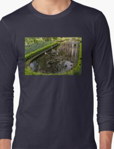 Hidden Tranquility - Beautifully Landscaped Garden with a Fountain Long Sleeve T-Shirt