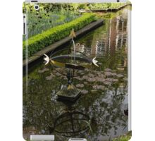 Hidden Tranquility - Beautifully Landscaped Garden with a Fountain iPad Case/Skin