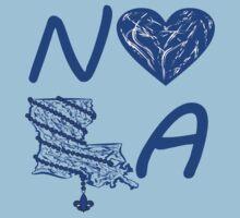 I heart NOLA (Blue) Kids Tee
