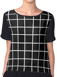 black tumblr grid Chiffon Top
