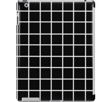 black tumblr grid iPad Case/Skin