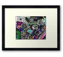 TV doodle  Framed Print