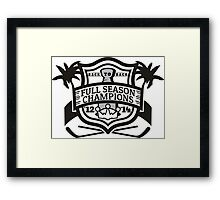 Back to Back Full Season Champions - Modern Framed Print