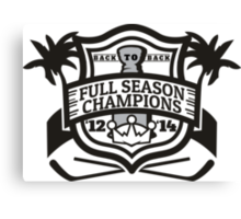 Back to Back Full Season Champions - Modern Canvas Print