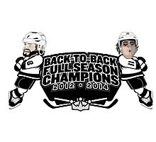 Back to Back Full Season Champions - Cartoon Photographic Print