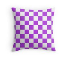Purple Checkerboard Throw Pillow