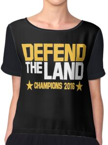Cleveland Cavaliers CHAMPIONS 2016 DEFEND THE LAND KING JAMES LEBORN Chiffon Top