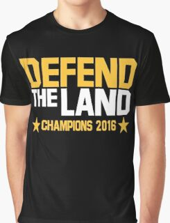 Cleveland Cavaliers CHAMPIONS 2016 DEFEND THE LAND KING JAMES LEBORN Graphic T-Shirt