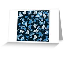 Alstroemeria, Bluebell and Camellia Japonica Greeting Card
