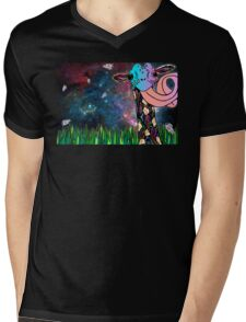 Intergalactic Giraffe Mens V-Neck T-Shirt