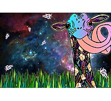 Intergalactic Giraffe Photographic Print