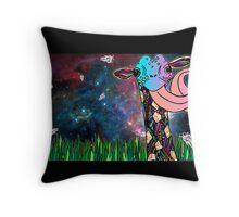 Intergalactic Giraffe Throw Pillow