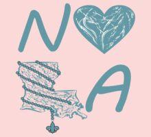 I heart NOLA (Turquoise/Light Blue) Kids Tee