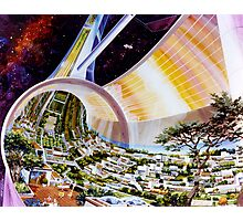 Space Colony Sci Fi Photographic Print