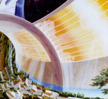 Space Colony Sci Fi Sticker