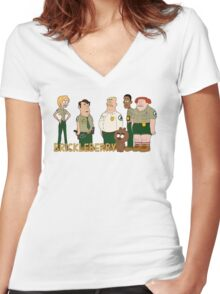 Brickleberry - the gang Women's Fitted V-Neck T-Shirt