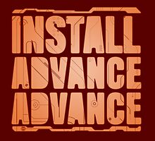 Install, Advance, Advance by corywaydesign