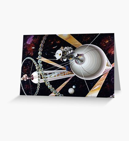 Space Exploration, Space Colony Greeting Card