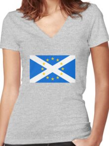 Scotland in EU Women's Fitted V-Neck T-Shirt