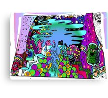 Melting and Evaporating Canvas Print