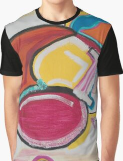 A Large Swirl with a Blue Smile Graphic T-Shirt