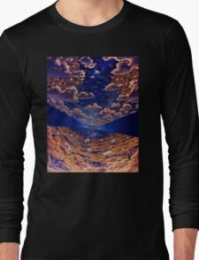 Space Colony Sunset Long Sleeve T-Shirt