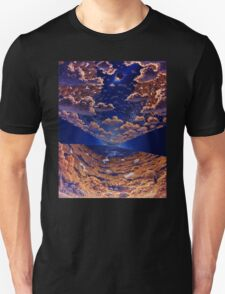 Space Colony Sunset Unisex T-Shirt