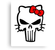 Hello Punisher Kitty Canvas Print