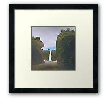 Waterfall gorge Framed Print