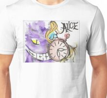 Alice in the Vortex of Time Unisex T-Shirt
