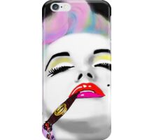 Marilyn Monroe punked & smoking  iPhone Case/Skin