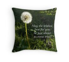 Best Wishes by Shell-Rose Creations Throw Pillow