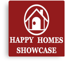 Happy Homes Showcase Logo Canvas Print