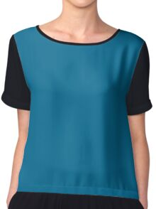 Sea Blue Chiffon Top