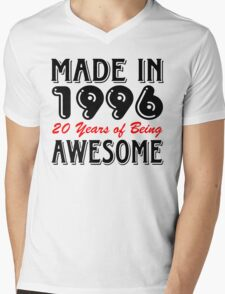 Made in 1996, 20 Years of Being Awesome Mens V-Neck T-Shirt