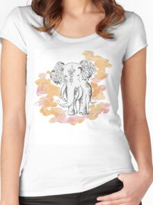 Lucky Elephant Women's Fitted Scoop T-Shirt