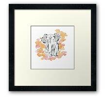 Lucky Elephant Framed Print