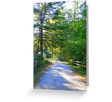 Country Road New Hampshire Greeting Card