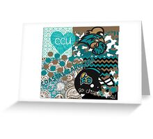 Coastal Carolina University Collage Greeting Card