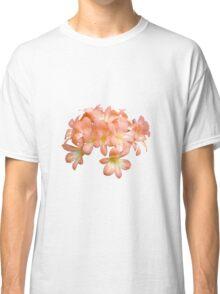 Peach Coloured Lilium Flowers Classic T-Shirt