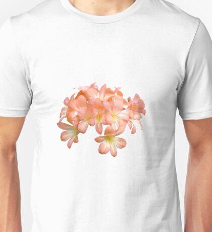 Peach Coloured Lilium Flowers Unisex T-Shirt