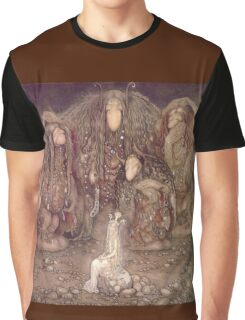 TROLL, Fairy Tales, Swedish, Sweden, John Bauer, Trolls, and a Princess,  Graphic T-Shirt