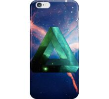 Abstract Geometry: Penrose Nebula (Ethereal Blue/Green) iPhone Case/Skin