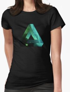 Abstract Geometry: Penrose Nebula (Ethereal Blue/Green) Womens Fitted T-Shirt