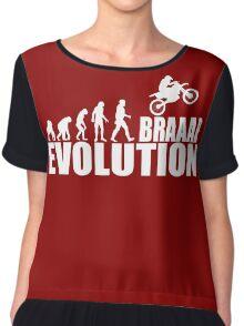 funny braaap evolution Chiffon Top