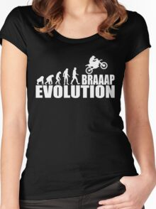 funny braaap evolution Women's Fitted Scoop T-Shirt