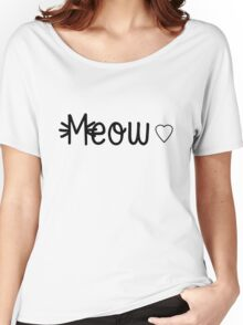 Meow Women's Relaxed Fit T-Shirt