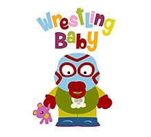 Wrestling Baby Photographic Print